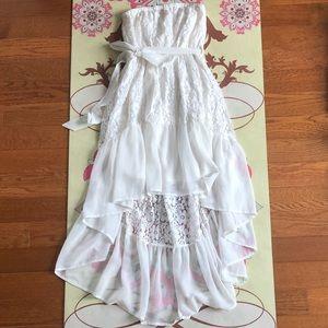 Lulus white hi lo lace dress